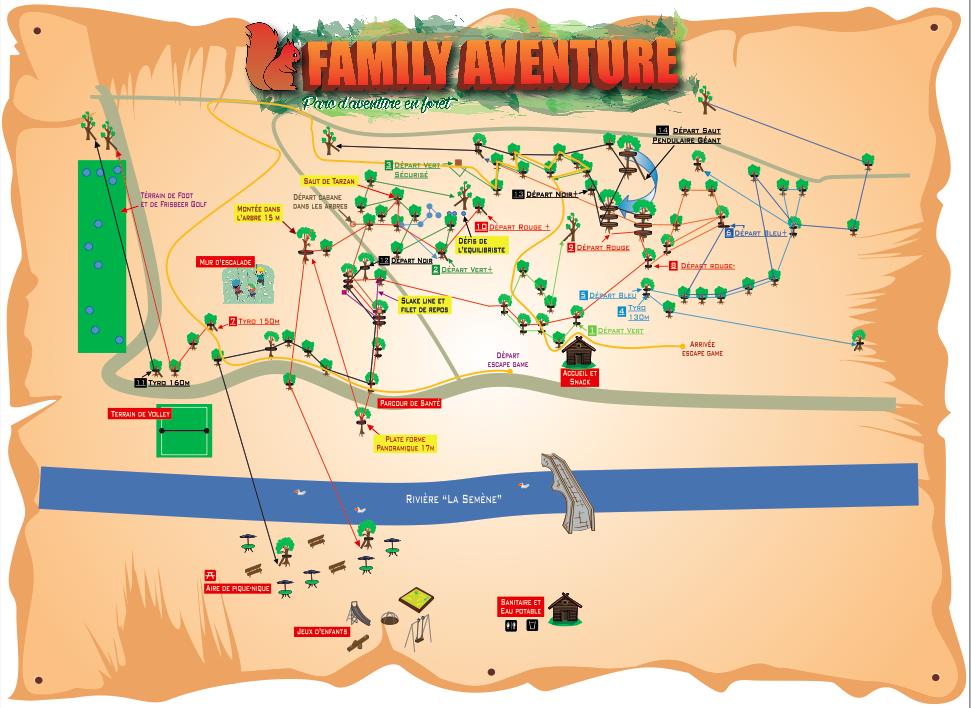 Plan du Parc Family Aventure